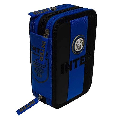Inter Astuccio 3 zip completo scuola C56175 prodotto ufficiale
