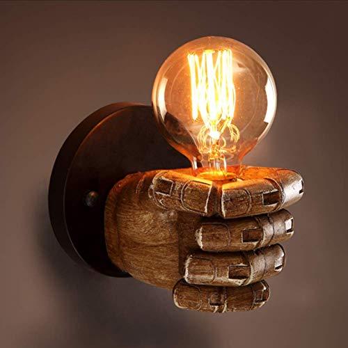 SXFYWYM Retro wandlamp linker hand rechter vuist hars creatieve wandlamp Europese stijl bar restaurant cafe lamp decoratieve wandlamp