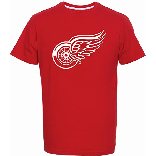 Majestic Athletic NHL T-Shirt Detroit RED Wings Fanshirt rot Eishockey (S)