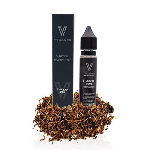 Vapoursson 30ml Classic Tabak 0mg E-Flüssigkeit, Shortfill Nikotinfreie Flaschen, 50/50 PG/VG - Starke echte Aromen, Für E-Shisha und E-Zigaretten| e flüssig