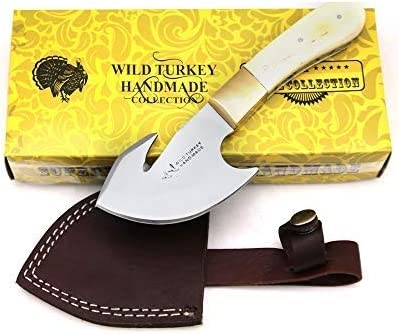 Wild Turkey Handmade Collection Full Max 90% OFF Tang Handle Bone Safety and trust H Gut Real