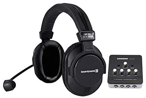 Find Bargain Beyerdynamic DT 290 MKII 250 Ohm Broadcasting Headset + Samson Headphone Amp