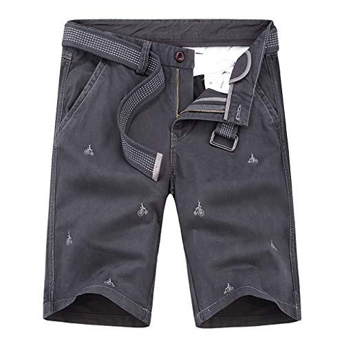 Pottoa Korte broek voor heren, korte broek, hoge tailleband, korte broek, heren, zomershorts, joggingbroek, heren