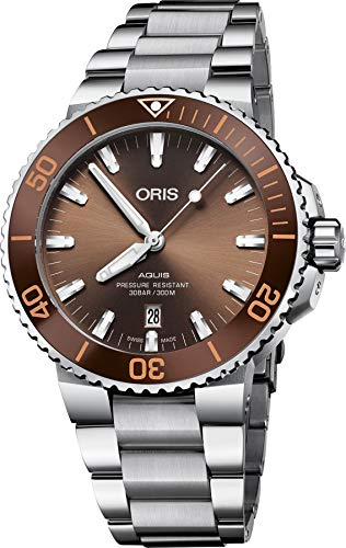 Oris Aquis Date reloj automático de hombre con esfera marrón 01 733 7730 4152-07 8 24 05PEB