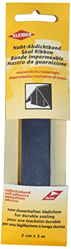 Kleiber 3 m x 2 cm Selbstklebendes, wasserdichtes, Stofffaser-Reparaturband für Zelte, Mäntel, Regenschirme usw, dunkelblau
