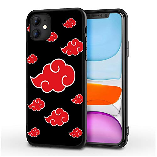 REROGE iPhone 11 Case for Naruto-Anime Fans,Ultrathin Cover Cases for iPhone 11 6.1' (Akatsuki-Cloud)