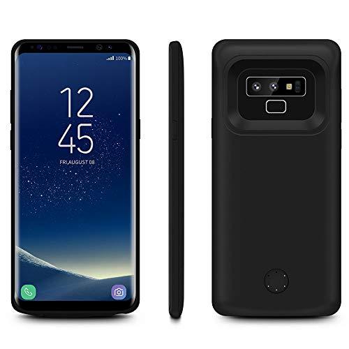 HQXHB Funda Batería para Samsung Galaxy Note 9, 5000mAh Funda Cargador Portatil Batería Externa Carcasa Batería Recargable Power Bank Case para Samsung Note 9 - Negro