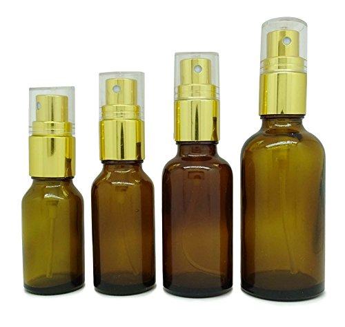 50 ml rechargeable atomiseur de parfum bouteilles de pulvérisation vaporisateurs d'huile essentielles vide ambre de verre gros lot Boston round de 6 bouteilles de parfum