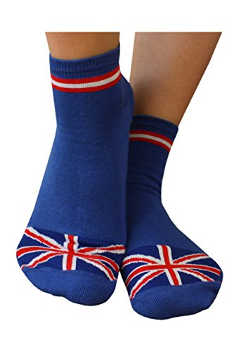 Weri Spezials Unisex Britische Socke, Antirutsch Noppen Beschichtung. in Royalblau Gr. 39-42