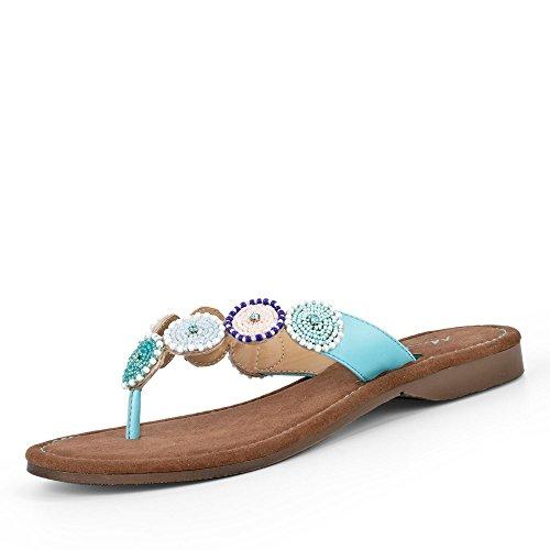 MUSTANG Shoes Damen 3126-805-88 Zehentrenner, Hellblau (38 EU)