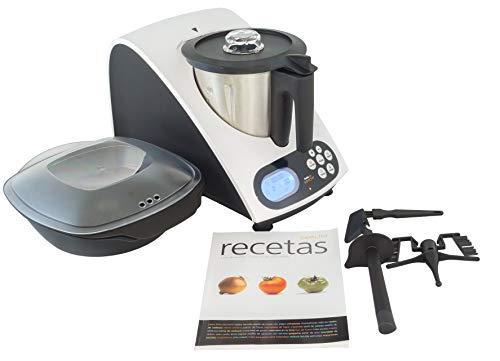 Superchef Robot de Cocina VA1500 Cook&MIx, 1100w+500w, jarra de 2 litros de capacidad real, 10 velocidades, de 40º a 110º