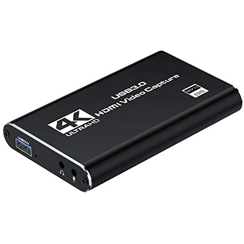 HDMI Videoaufnahmekarte, Cenawin HDMI Game Capture Card USB 3.0 1080P Tragbare Audio Video Aufnahmekarten für Videoaufzeichnung, Live-Übertragungen, Streaming, Spiele