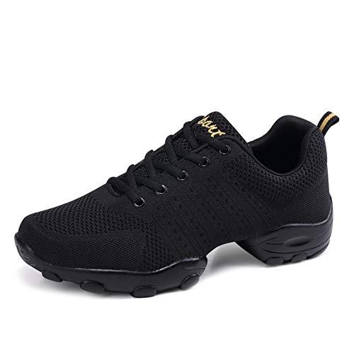 HIPPOSEUS Zapatos de Baile Contemporáneo Jazz para de los Hombres -Zapatillas Ligeras y Cómodas Transpirables,Blanco,40 EU