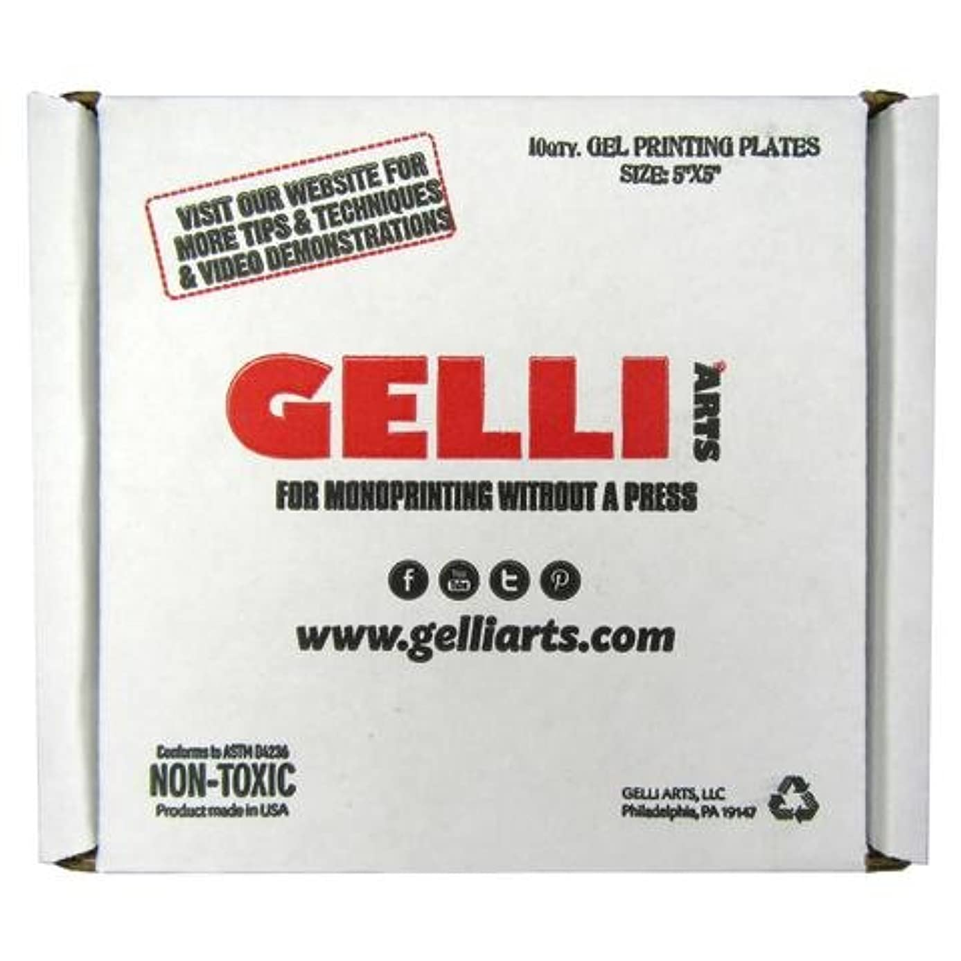 Gelli Arts Gel Printing Plate 5x5