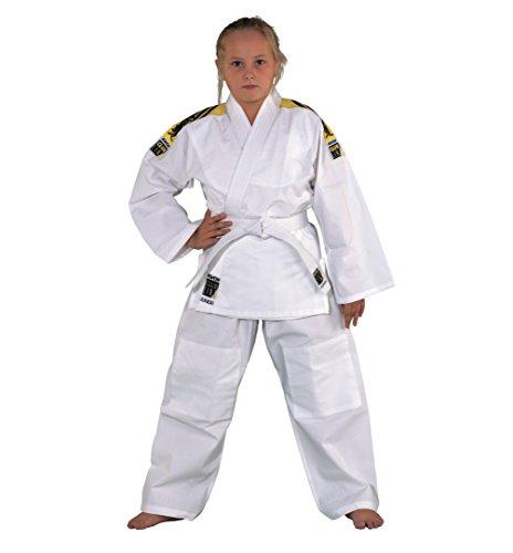 Kwon Judoanzug Junior mit Schulterstreifen, weiß, 551302, Gr.180