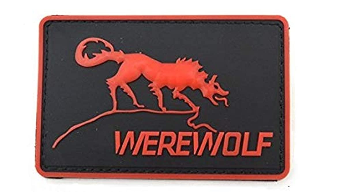 Morton Home The Inside Story of Freelance Soldiering Werewolf 3D PVC Rubber Patch (red)