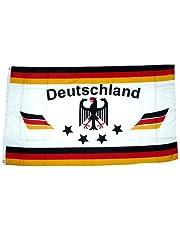 Bandera/bandera de Alemania{4} 90 x 150 cm blanco con estrellas