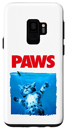 Galaxy S9 Paws Cat and Mouse Phone Case, Cute Funny Cat Lover Parody Case