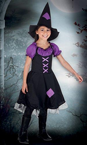 Boland- Costume Bambina Streghetta Imperial Witch, Viola/Nero, 10-12 anni, 78017