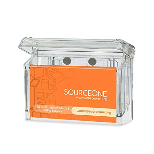 Source One LLC Clear Outdoor Magnetic Business Card Holder (GAB-MAG)
