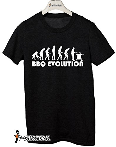 t-Shirt Humor Evolution BBQ, Barbeque - Tutte Le Taglie Uomo Donna Maglietta by tshirteria