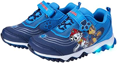 Nickelodeon Boys' Paw Patrol Sneakers - Laceless Light-Up Running Shoes, Size 10 Toddler, Blue/Navy