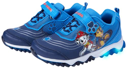 Nickelodeon Boys' Paw Patrol Sneakers - Laceless Light-Up Running Shoes, Size 11 Little Kid,...