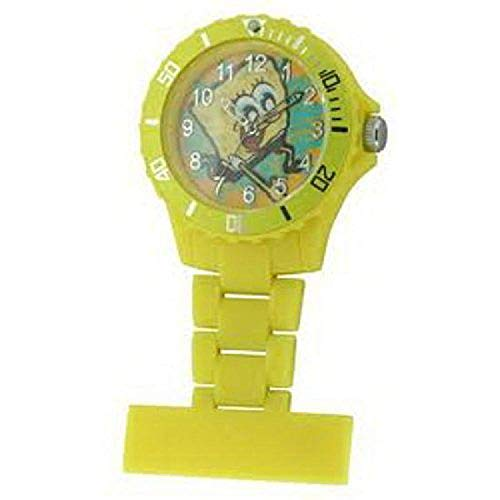 Spongebob Squarepants Water Resistant Yellow Rotating Bezel Nurse Fob Watch SB35
