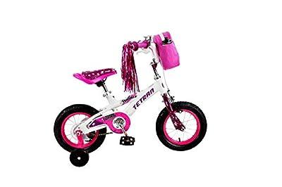Tetran Twinkle Freestyle BMX Kid's Bike, 12/16 inch, Pink, Purple, White (White, 16 inch)