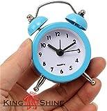 King Shine™ Cute Mini Alarm Clock. Travel Alarm Clock Battery Operated. Best