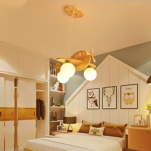 Linterna de bambú Sitio para niños Lámpara colgante Retro estilo japonés Chandelier Kids Room Lámpara Boys Dormitorio Dibujos animados Creativo Avión Techo Techo Luz de Niñas Habitación Lámpara decora