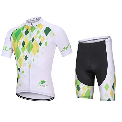 Maillot Ciclismo Mujer Conjunto De Ropa + Culote Pantalones Acolchado 9D para Bicicleta Verano Deportes Al Aire Libre,C,XL