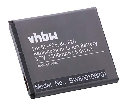 vhbw Li-Ion Akku 1500mAh (3.7V) für Handy Smartphone Telefon Phicomm C230, C230V, C230W, Clue, i300 wie BL-F06, BL-F20, BL-F25.