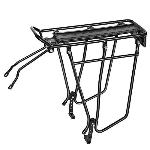 SONGMICS Bike Rear Rack, Bicycle Cargo Carrier, Disc Brake, Adjustable USBC03B
