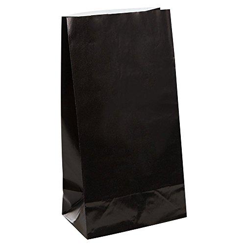 Partytaschen aus Papier - Schwarz - 12er-Pack