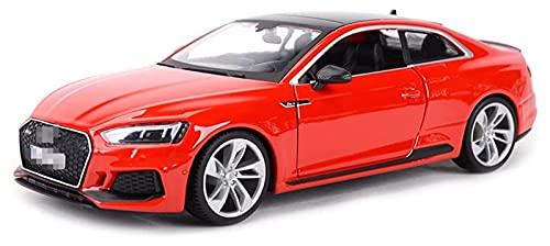 Coches Coleccion Diecast Car 1:24 para RS5 Deportes Coche Estado Estado Vehículos Modelo Coleccionable Modelo Coche Juguete Toy Toy Coche Regalo Regalo (Color : Rojo)
