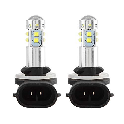 2 uds bombillas LED de luz antiniebla 12-24V 50W coche de alta potencia brillante LED faro antiniebla bombillas de luz diurna para Hyun-dai Accent 2013-2018