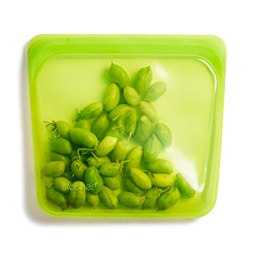 Stasher - Bolsa para alimentos, 100% silicona reutilizable