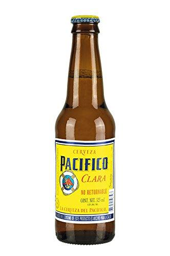 Cerveza Pacifico Clara, Helles Bier aus Mexiko, 4,5% vol, Flasche 325 ml