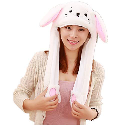 Dreamworldeu Dreamworldeu Damen/Herren Plüsch Hut Beweglich Mütze Kreatives Geschenk Kaninchen Ohr Hut