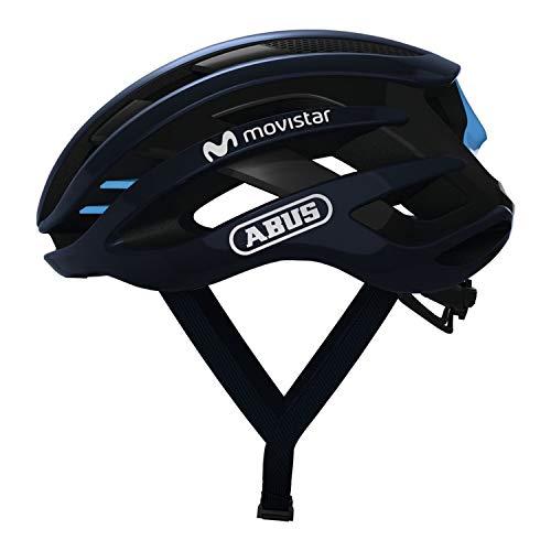 ABUS AIRBREAKER Rennradhelm - High-End Fahrradhelm für den professionellen Radsport - Unisex, für Damen und Herren - 81716 - Movistar Team Edition, Größe S