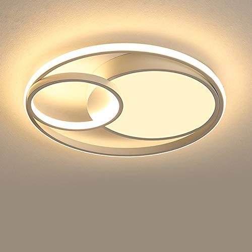 LED Lamparas de Techo Plafon Interior Metal Cuadrado Dormitorio Blanco Moderna Regulable con Mando a Distancia Vaso Flush Mount Lámpara Minimalista Luz de Colgante Iluminación Decor Oficina,48cm
