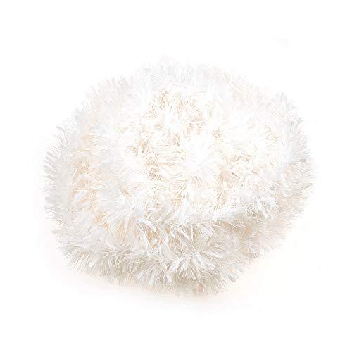 VEYLIN Lametta für Weihnachtsbaum-Dekoration, 10 m, Weiß