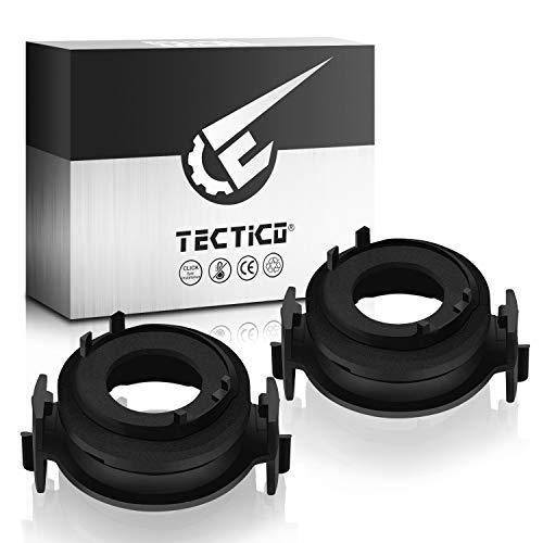 TECTICO H7 LED Bulb Base Clips Adattatore Staffa Conversione Accessori Accessori compatibili con BMW E46 3Serie 325ci 325i 330ci 330i M3 328Ci 323i, 2 pezzi