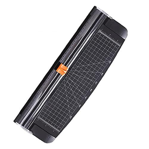 cuchillo de corte de papel A4 de papel del condensador de ajuste guillotina portátil con salvaguarda de la seguridad automático para fotografía de etiquetas de descuento Scrapbooking Negro