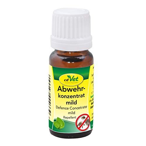 cdVet Abwehrkonzentrat mild - rein pflanzliches Insekten-Abwehrmittel 10 ml - natürlicher Insektenschutz vor Zecken und Milben ohne Chemie für Katzen, Hunde und alle Wirbeltiere