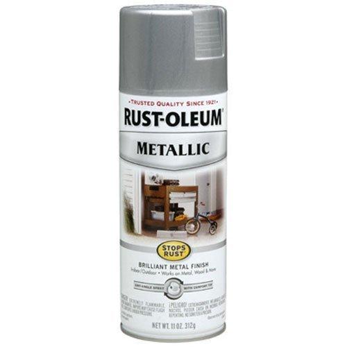 Rust-Oleum 7271830 Metallic Spray, Silver, 11-Ounce