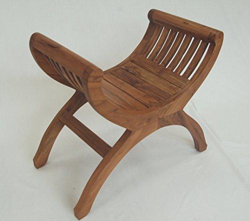 Duurzame teakhouten occasionele stoel voor slaapkamer, woonkamer of hal
