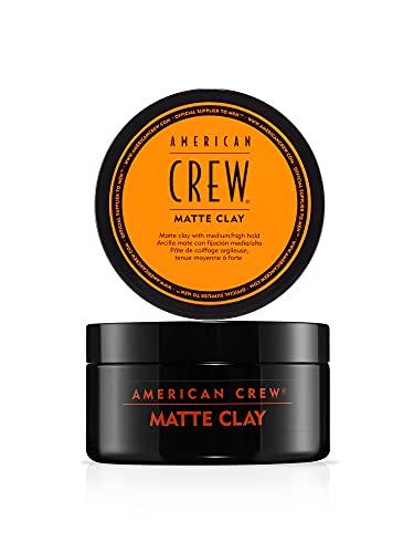 American Crew Hair Styling Matte Clay Cera Fissante Capelli Tenuta Medio-Alta, Finitura Opaca, 85 gr