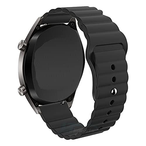 Pulseira 22mm Gomada compatível com Galaxy Watch 3 45mm - Galaxy Watch 46mm - Gear S3 Frontier - Amazfit GTR 47mm - Marca LTIMPORTS (Preto)